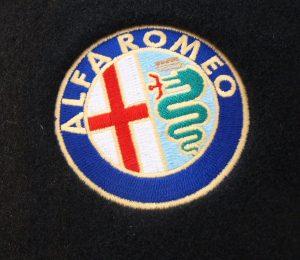 alfa logo geborduurd